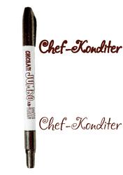Маркер двухсторонний Толстый-Тонкий  Edible Jumbo & Skiny Marker (Эдибл Джамбо & Скини Маркер) - Шоколадный (Chocolate)