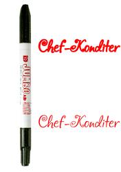Маркер двухсторонний Толстый-Тонкий  Edible Jumbo & Skiny Marker (Эдибл Джамбо & Скини Маркер)- Красный (Red)