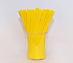Палички для кейк-попсів жовті, 15 см, 50 шт