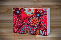 Коробка для Макаронс 115х155х50 Орнамент (на 12 шт яркий фон)