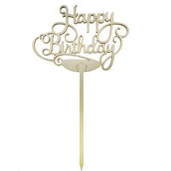 Топпер Happy Birthday вензель 12,5х9 см