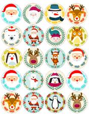 Картинка для мафінів, капкейків Новий Рік №22