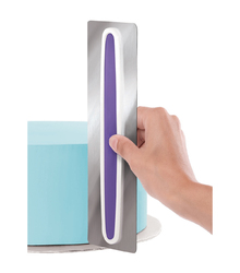 Шпатель металлический бело-фиолетовый (22,8 х 7,6 см)№2