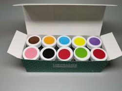 Набор пастообразных красителей из 10 шт Chefmaster Gel Base Color 10х28,35 г.