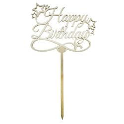 Топпер Happy Birthday звездочки 12,5х10 см