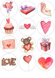 Картинки для мафінів, капкейків З Днем Святого Валентина №177