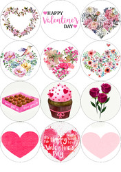 Картинки для мафінів, капкейків З Днем Святого Валентина №178