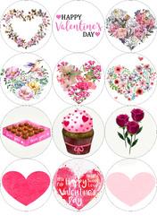 Картинки для маффинов,капкейков С Днём Святого Валентина №178