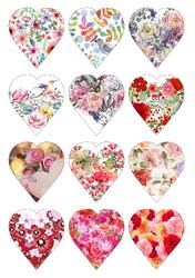 Картинки для мафінів, капкейків З Днем Святого Валентина №185