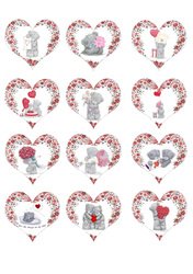 Картинки для мафінів, капкейків З Днем Святого Валентина №180