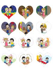 Картинки для мафінів, капкейків Love is №8