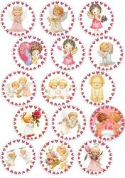 Картинки для мафінів, капкейків З Днем Святого Валентина №184