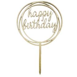 Топпер Happy Birthday круг 12 см