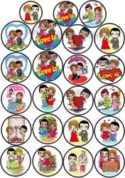 Картинки для мафінів, капкейков Love is №6