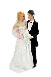 Фигурка жених и невеста 15 см 1204 D