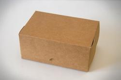 Коробка-контейнер для тортов, чизкейков, пирожных 180*120*80 мм крафт