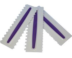 Набор шпателей из 3 ед. бело-фиолетовый(22,8х7,6см)