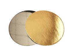 Подложка круглая D25 золото/серебро
