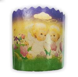 Форма пасхальная бумажная d110 мм Ангелочки №2