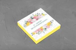 Коробка для конфет 185х185х42 на 16 штук Весенняя желтая