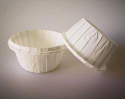 Форма паперова для кексів з бортиком біла, 55 * 35 мм 25 шт