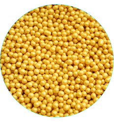 Рисові кульки жовті перламутрові 3 мм-100 г