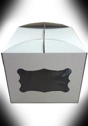 Коробка для торта 300х300х250 з вікном