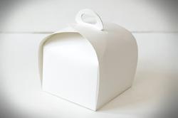 Коробка Лепесток №1 для тортов, чизкейков, пирожных 110*110*110мм белый