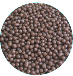Рисовые шарики перламутровые коричневые 3 мм со вкусом молочного шоколада 100 г