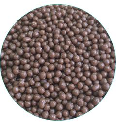 Рисовые шарики перламутровые коричневые 3 мм со вкусом молочного шоколада 20г