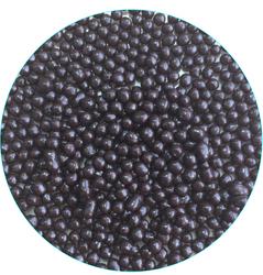 Рисові кульки перламутрові чорні 3 мм зі смаком чорного шоколаду 100г