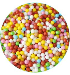 """Посыпка сахарная """"Шарики радуга"""", 5 мм Вернер 50 г."""