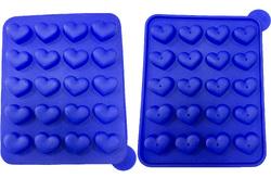 Форма силиконовая для кейк-попсов сердца