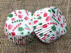 Форма для кексов С Днем Рождения №2 50х30 50шт.(красно-зеленое)