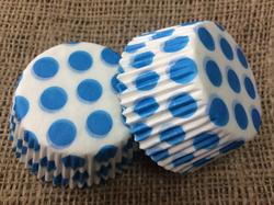 Форма для кексов Горошек 50х30 50шт.(голубой)