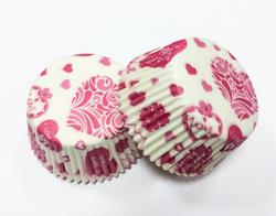 Форма для кексов Валентинка №4 50х30 50шт.(красная)