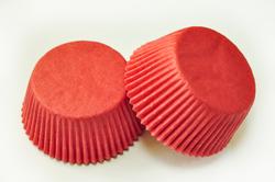 "Форма для кексов ""Красная"" 50х30 50шт.(однотонная)"