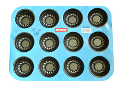 Форма для выпечки на 12 королевских кексов тефлон 6,5x4x3 см
