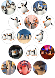 Картинки для маффинов,капкейков Пингвины Мадагаскара №192