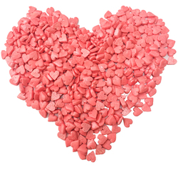 Сердца большие розовые перламутровые Топ-Продукт 100 г.