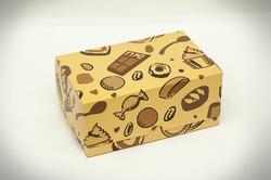 """Коробка-контейнер для тортов, чизкейков, пирожных """"Сладости"""" 180*120*80 мм"""