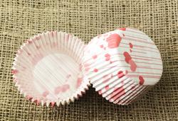 Форма для кексов Валентинка №2 50х30 50шт.(красная)