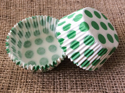 Форма для кексов Горошек 50х30 50шт.(зеленый)
