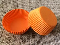 "Форма для кексов ""Оранжевая"" 50х30 50шт.(однотонная)"