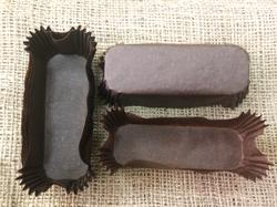 Форма прямоугольня для эклеров, пирожных - коричневая 100х35x30 50шт.