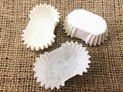 Форма овальная для эклеров, пирожных - белая 45х25x20 50шт.