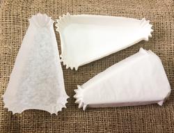 Форма треугольная для пирожных - белая 115х60x20 50шт.