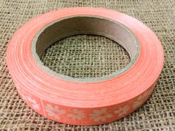 Декоративная лента 2*50с рисунками, цвет персиковый