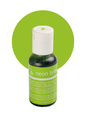 Гелевый краситель Chefmaster neon bright green (электрический зеленый) 21 г.
