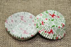 Форма для кексов Новый год №4 50х30 50шт.(красно-зеленый)